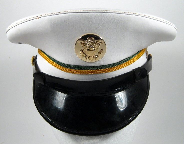 US Army Military Police MP Enlisted Service Dress Whites Hat Cap 6 1/2 or 52
