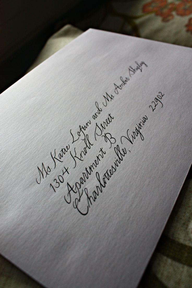 handwrite or print wedding invitation envelopes%0A Charlottesville Calligrapher  Modern wedding invitation envelopes