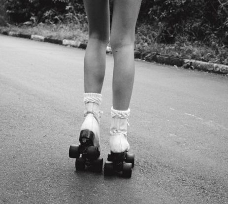 Love rolling skates love the look, so vintage. But so classic.