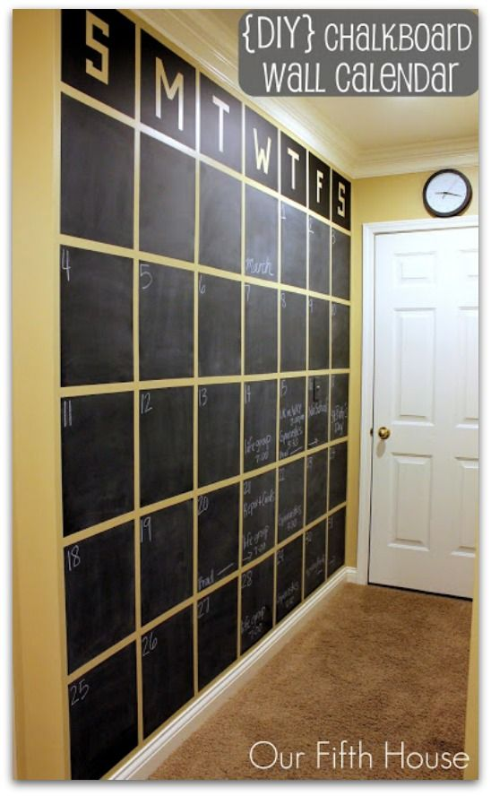 Chalkboard calendar - I just need the right wall to do this!