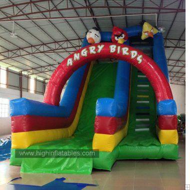 Inflatable angrey bird slide-2