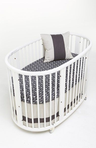 Fun Oval Crib With Cute Grey Sheets Http Rstyle Me N