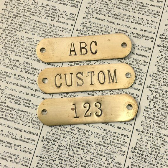 Custom Hand Punched Brass And Metal Tag Hand Stamped Key Etsy Metal Tags Custom Engraving Key Tags