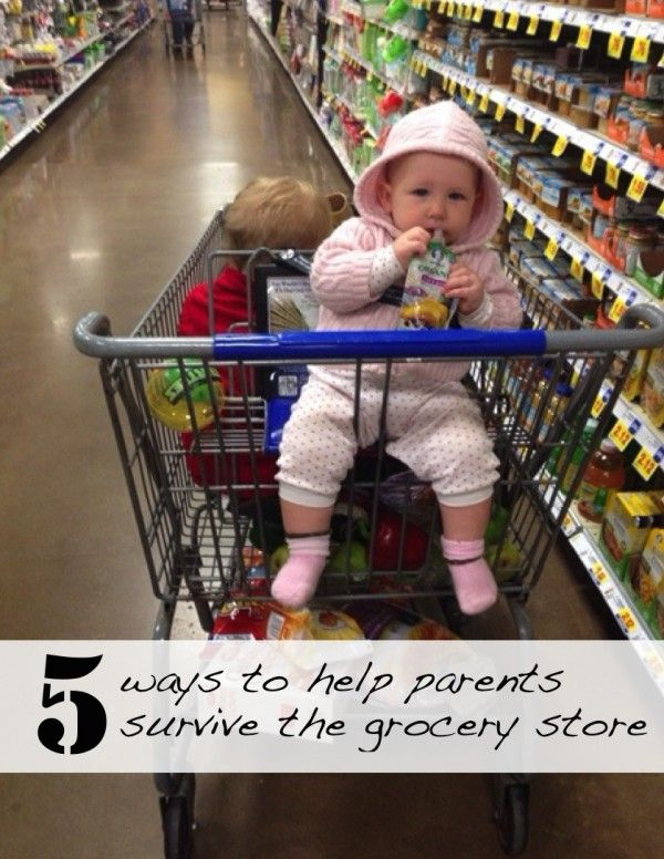 How to help moms in the grocery store!
