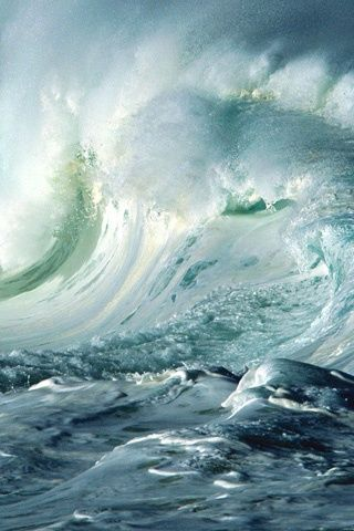Nature is at the very least, mesmerizing in its beauty and daunting in its power. The ocean moves in color and form. Ever a tribute to the creator.