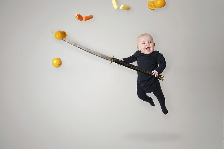 This is one of the coolest dad's ever. I am totally going to photoshop my kid's photos :D