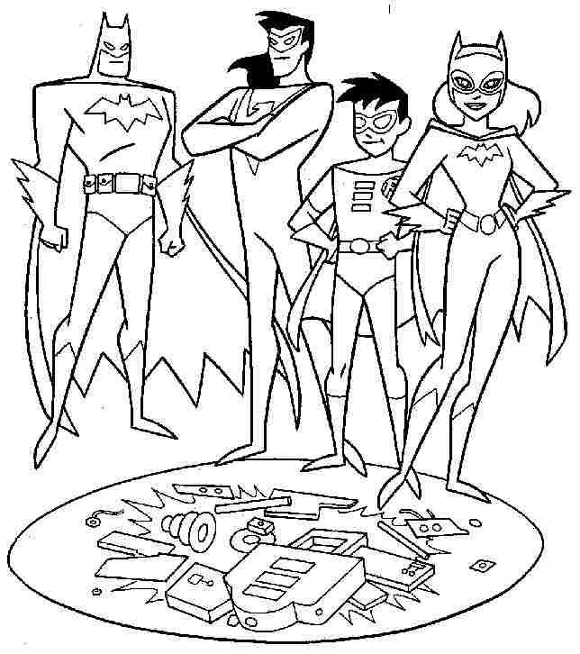 free superhero batman and robin coloring pages for toddler - Batman And Robin Coloring Pages