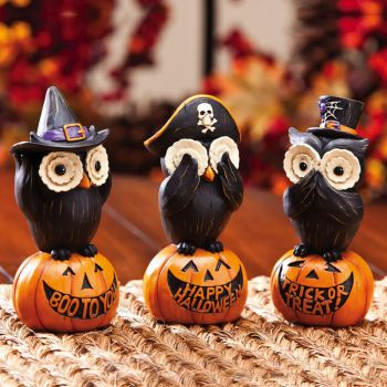 Decorative Halloween Owls by Evergreen Enterprises (www.myevergreenonline.com)