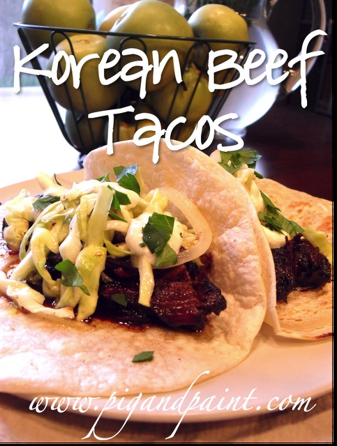 Korean Beef Tacos....one of the BEST things I've ever made.