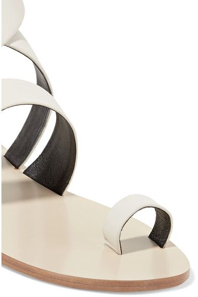 Tibi - Hallie Leather Sandals - Ivory - IT38.5