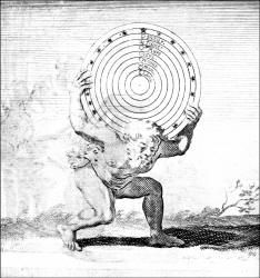 Engraving - Hans Holbein image known as 'The Astrologer' from ''Moriae Encomium'' (''The Praise of Folly'' or ''L'Eloge de la Folie'')
