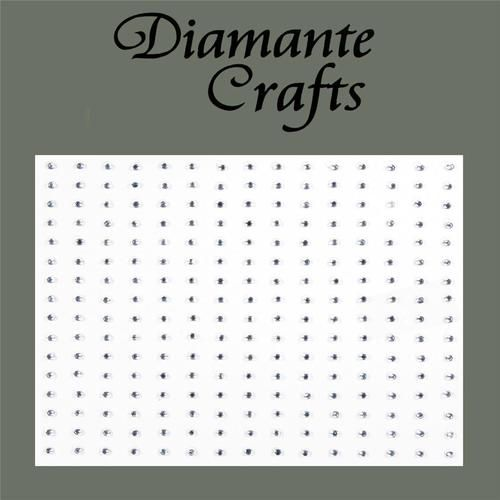 240 x 1mm Clear Diamante Self Adhesive Rhinestone Body Nail Vajazzle Gems (ca. 18 kr)