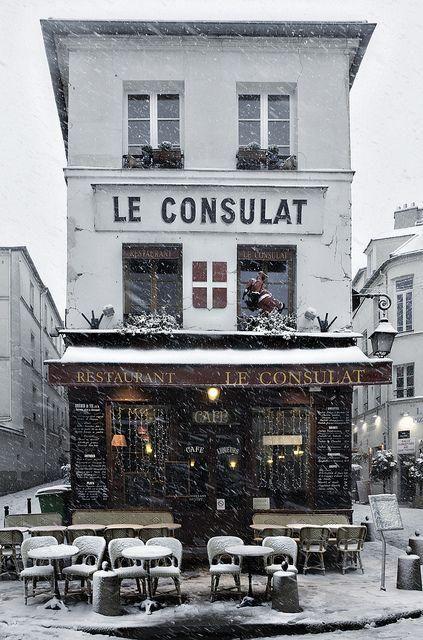 wintertime in Paris.