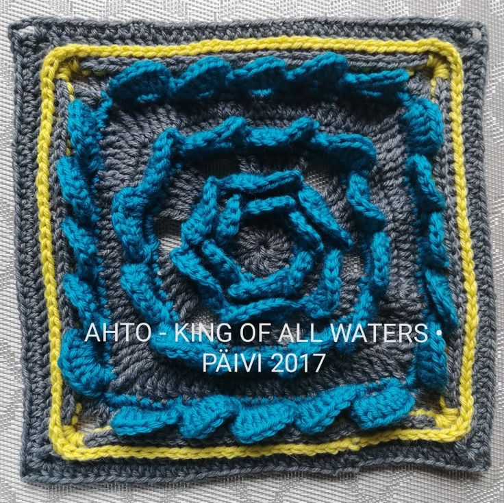 Part8: AHTO - THE KING OF ALL WATERS. Designed by Anne Vierimaa. Made by Päivi M.