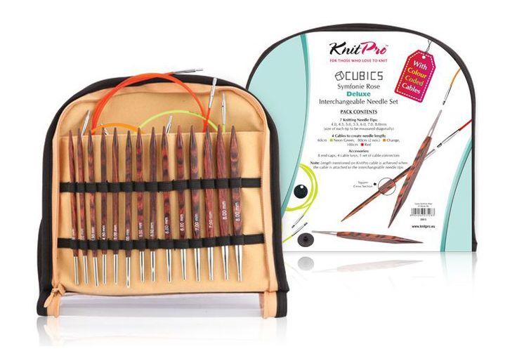 Knit Pro Cubics - De Luxe - hranaté ihlice