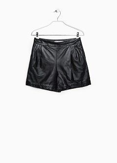 Short cintura alta pele - MNG