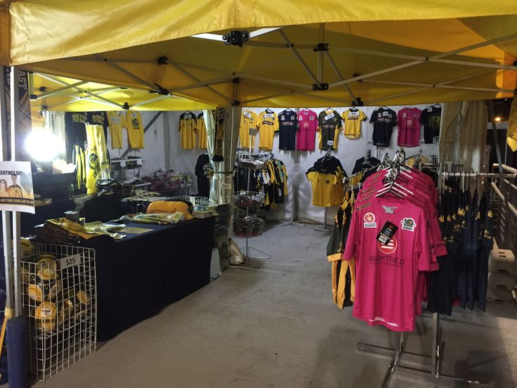 Expanding merchandise pop up shop on Eastern Concourse at Central Coast Stadium
