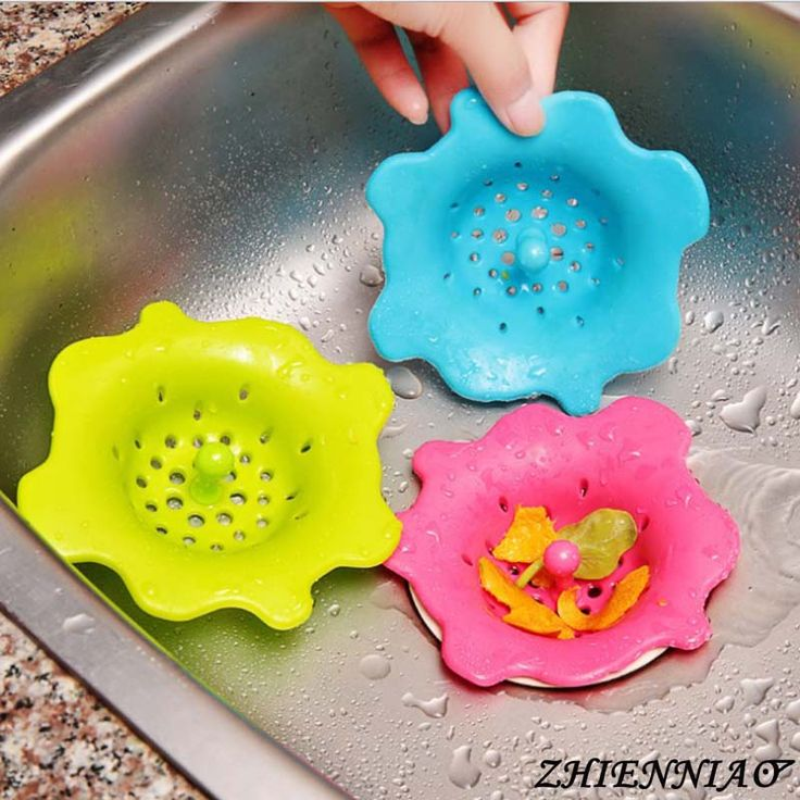 New Creative Silicone Kitchen Sink Strainer Filter Round Shape Sewer Drain Cover Stopper
