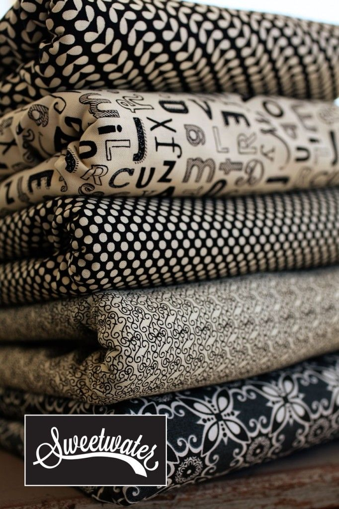 Black and white fabrics by Sweetwater