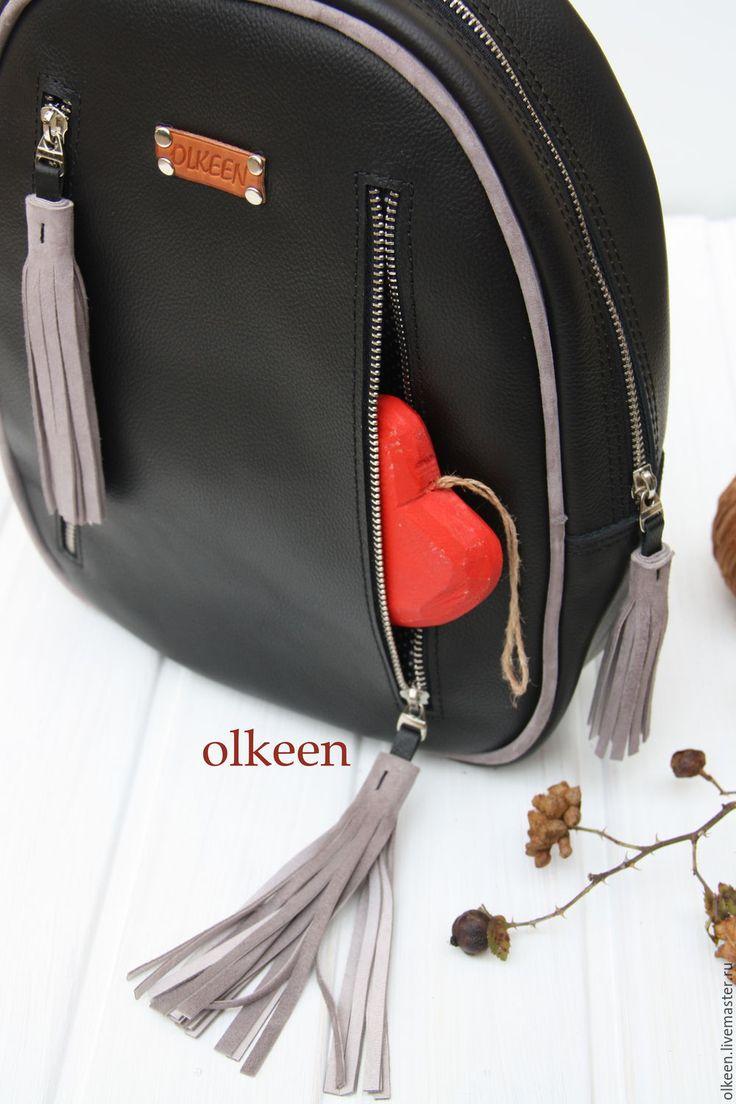 Купить Рюкзак кожаный женский Cosmopolitan - черный, однотонный, рюкзак, рюкзак женский