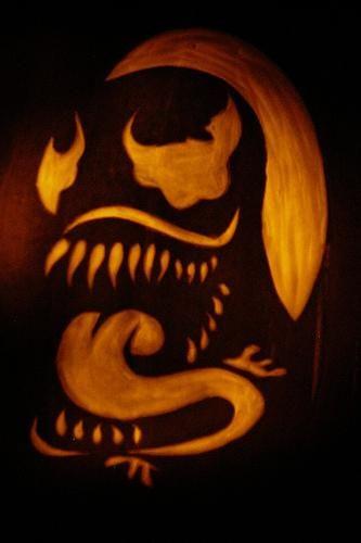 Venom Pumpkin Carving Pumpkin Carving Halloween Stencils Creepy Pumpkin