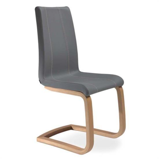 Sedia in legno di faggio con sedile e schienale imbottiti
