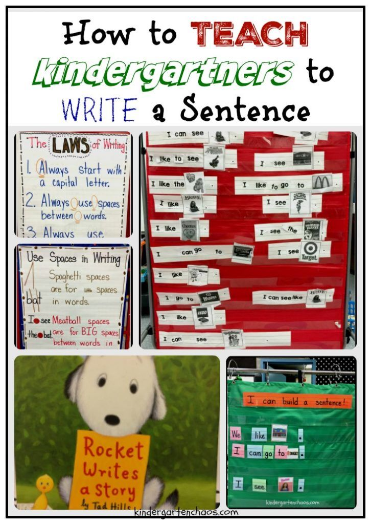 It's week 10 in my Kindergarten class and time for Teaching Kindergartners How to Write a Sentence. This school year has been my most challenging year, yet I am learning what so many other teachers e