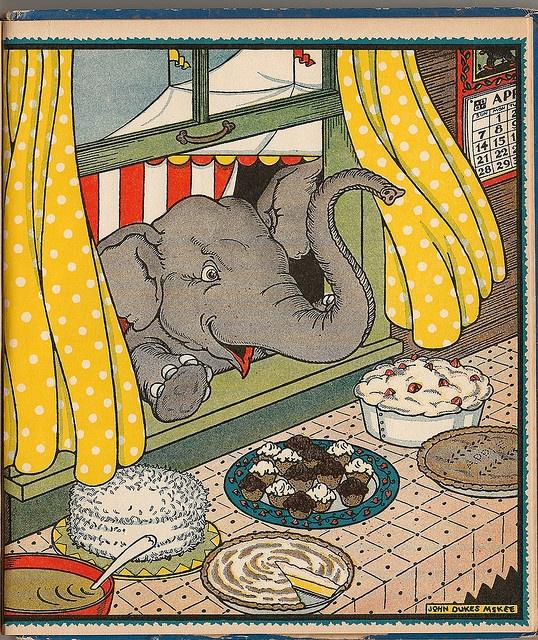 Circus Book-1932 Book is called The Big Show, 1932, John Dukes McKee (American 1899-1956) illustrator