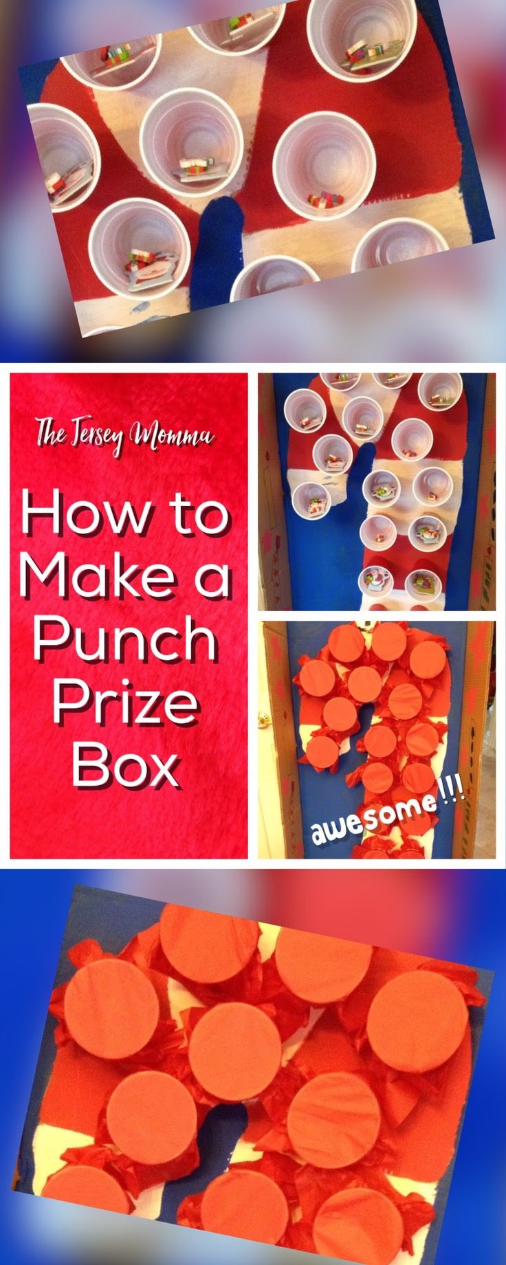 DIY Punch Prize Box for parties. Easy punch prize boxes for parties!