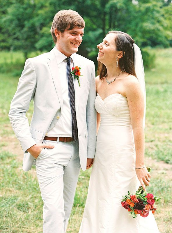 A Rustic Summer Wedding  in the Berkshires. Photo: Charlotte Jenks Lewis.