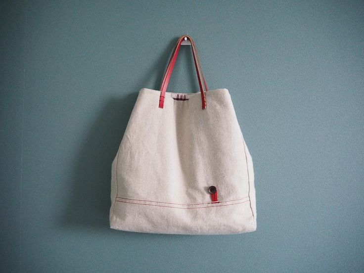 DIY Lined Tote Bag. Photo Tutorial: Lined Canvas Tote | Step by step DIY