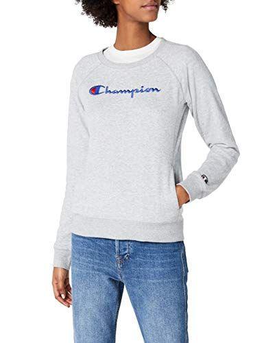 Sudadera Sweatshirt Para Gris Crewneck Institutionals Champion Mujer Bawtxzq5T