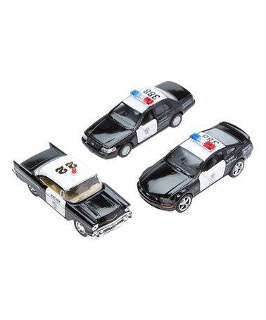Loving this 1957 Bel Air, 2006 Mustang & Crown Vic Police Car Set on #zulily! #zulilyfinds