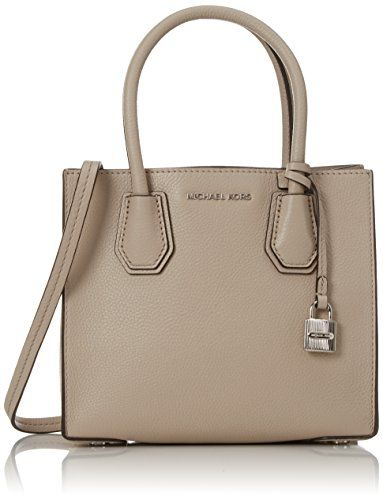 1924baab67a6 Michael Kors Women s Medium Mercer Bonded Leather Tote Shoulder Bag -  Cement -- You can