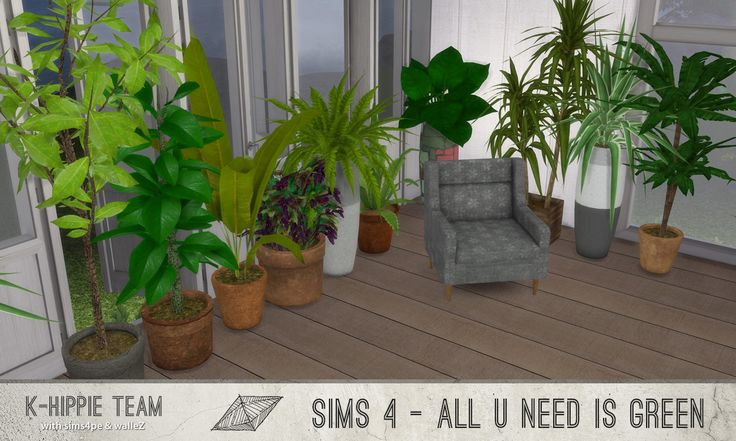 All You Need Is Green I 10 plants I by by Blackgryffin aka k-Hhppie via modthesims I Maxis Match I Sims 4