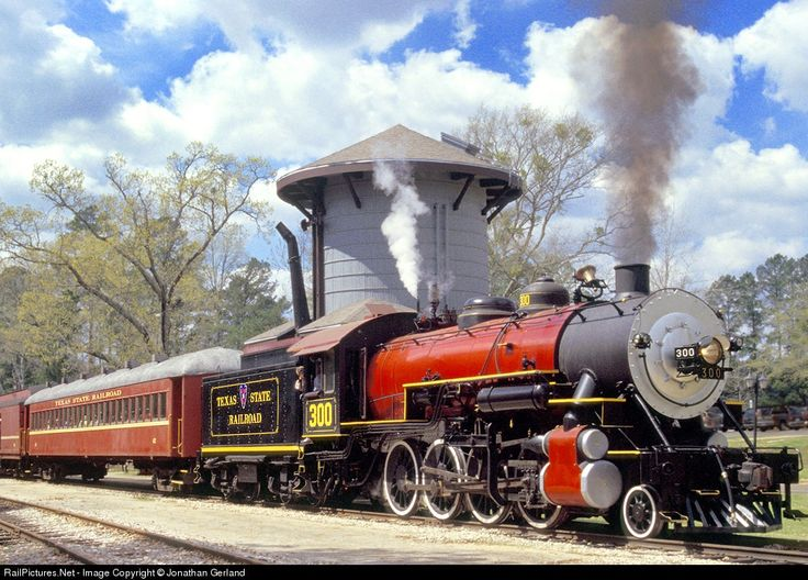 ... Texas State Railroad Steam 2-8-0 at Rusk, Texas