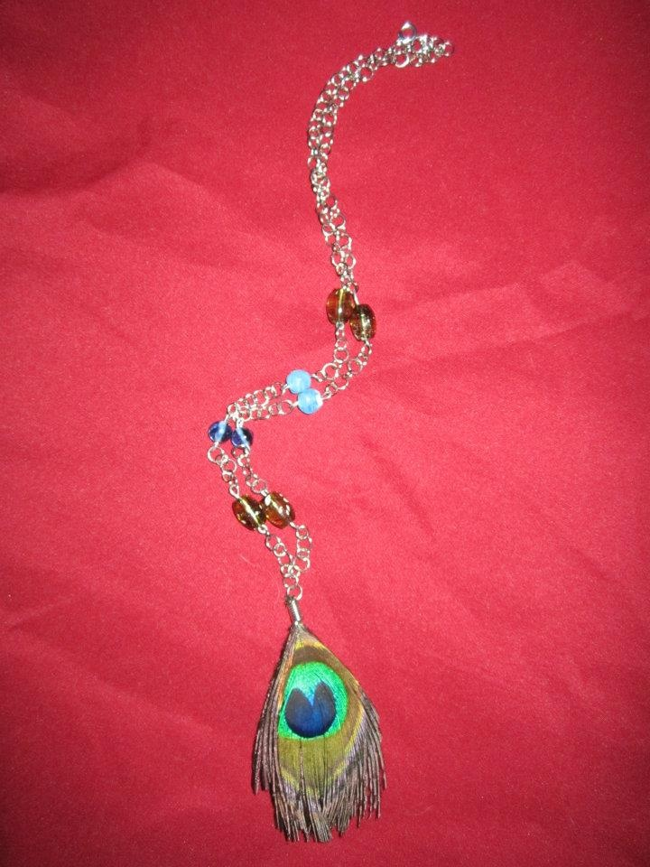 Peacock necklace <3...  To purchase check out my facebook page: http://www.facebook.com/twocutechicks?ref=hl