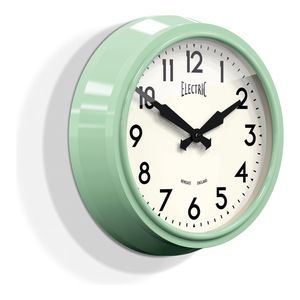 Newgate Large 50s Electric Wall Clock – Kettle Green - Wall Clocks