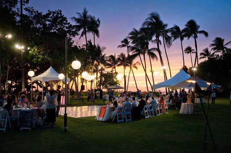Beach Wedding Ceremony Oahu: Lanikuhonua Estate In Ko'olina Oahu Wedding Location