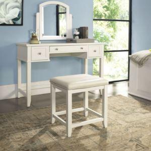 Vista Vanity Set In White Finish