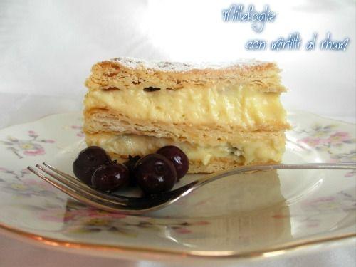 Una deliziosa millefoglie con mirtilli sotto rhum http://maryentuttoditutto.blogspot.it/2014/12/forno-bonomi-e-modi-apple-strudel-di.html
