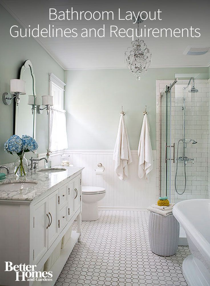 Bathroom Layout Guidelines And Requirements The White Bathroom Layout And Vanities