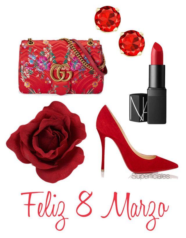 """Feliz Día"" by superficiales on Polyvore featuring moda, Gucci, NARS Cosmetics, Christian Louboutin, women y happyday"