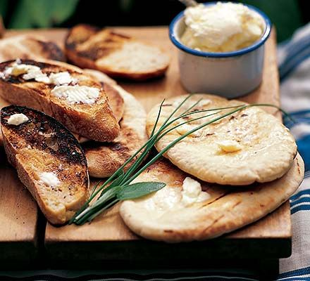 You can't go wrong with good bread and garlic butter!