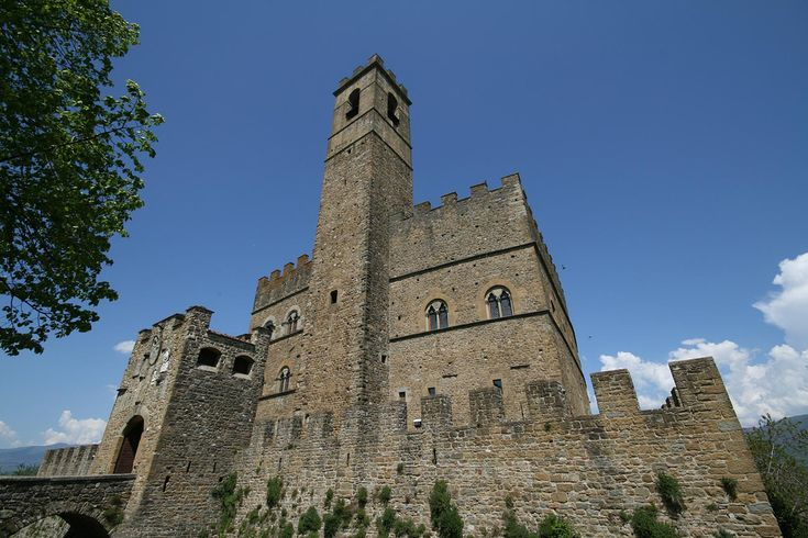 Poppi - the majestic architecture of the Castle of the Guidi Counts stands bold on top of Poppi