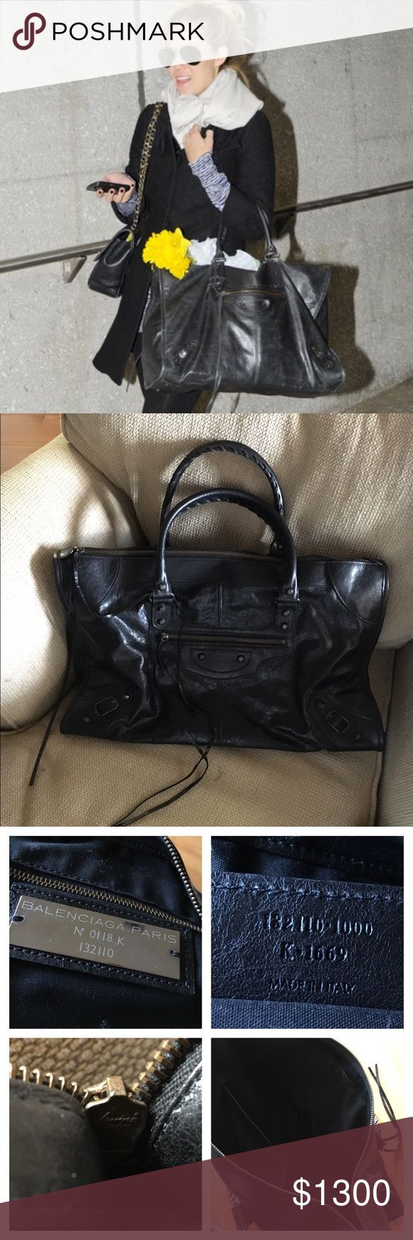 Balenciaga Weekender Gorgeous Balenciaga weekend bag. Dust bag included. I am happy to answer any additional questions. **First photo is not of this bag. PRICE IS FIRM. NO TRADES. Balenciaga Bags Totes