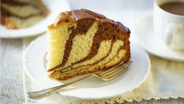 Jazz up afternoon tea with this eye-catching stripy cake – super easy once you know the trick.