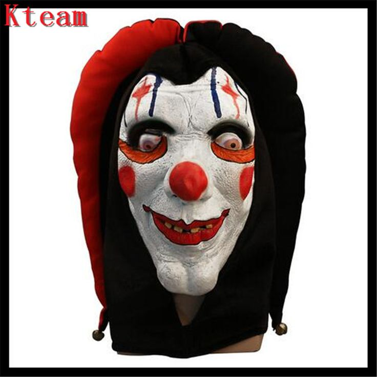 Hot Sale Scary Clown Mask Red teeth Full Face Horror Masquerade Adult Ghost Party Mask Halloween Props Costumes Fancy Dress