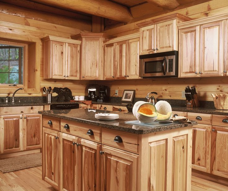 Beautiful grain cabinets design my kitchen pinterest for Kitchen ideas for log homes