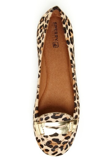 Brooks pony hair leopard flat from Sperry